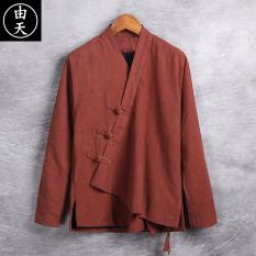 Oriental Style Retro Kain Linen Gelang Rajutan Peningkatan Pakaian .