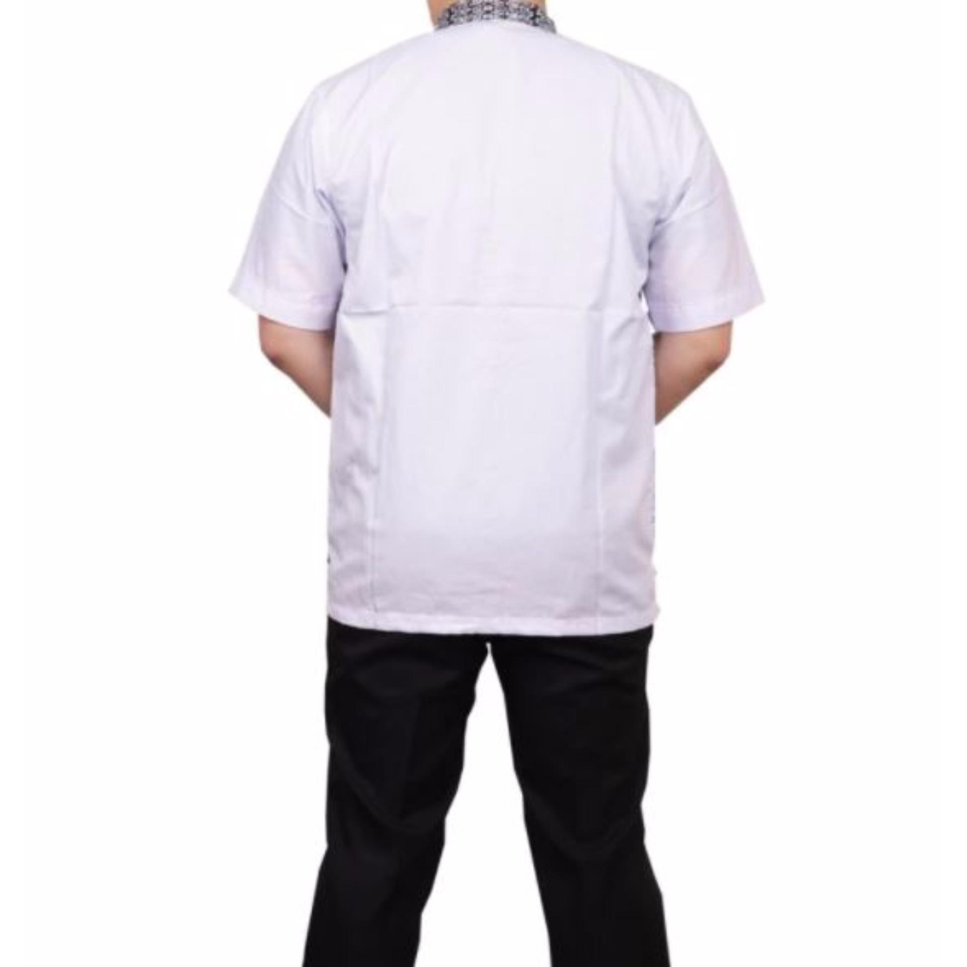 ... Ormano Baju Koko Muslim Batik Lengan Panjang Lebaran Hari Raya Pengajian ZO17 KK91 Kemeja Fashion Pria