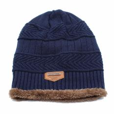 Ormano Topi Kupluk Wool Winter Fashion Hat Beanie s3609 - Biru