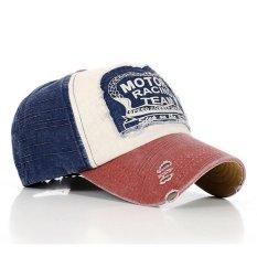 Outdoors Unisex Topi Letter Retro Fashion Fashion Vintage Caps Baseball Golf Cotton Adjustable Hat Blue Edge Wine Red Headpiece