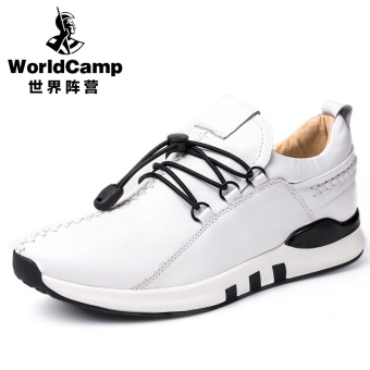 Ouzhouzhan Inggris musim gugur sepatu pria sepatu sepatu pasang (Putih)