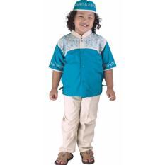 Pakaian Muslim Anak Laki-Laki Catenzo Junior CSG 250 Toska Kanvas