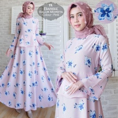 Pakaian Muslimah Wanita - Fashionable - Maxi Barbie Moreta pink
