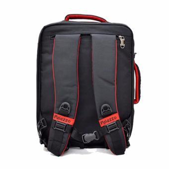 Palazzo Tas Ransel Punggung Laptop 3IN1 Trendy Multi Fungsi 34685 17 - Black Original - 4