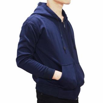 Palemo Jaket Sweater Polos Hoodie Zipper Navy Blue - Unisex - 2