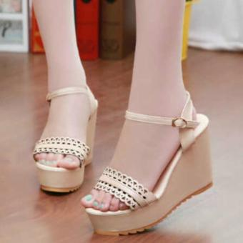 Salem Info Source Debuchy Sandal Wanita Wedges Ribbon Flowery IP07 Tan Ezyhero Source . Source ·