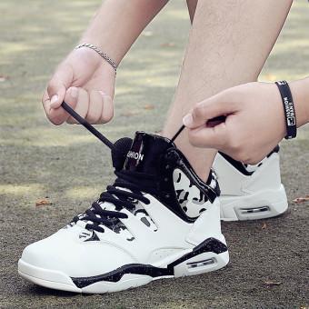 Harga Pasang laki-laki Korea Fashion Style laki-laki pasang sepatu kasual sepatu pria (369-EM hitam dan putih)