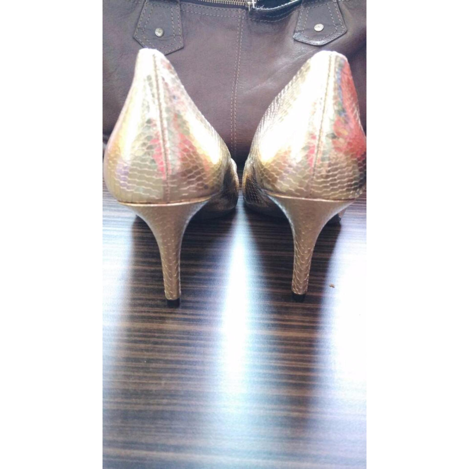 High Heels Sepatu Wanita Hitam S167 Daftar Harga Terbaru D Tb41 Payless Shoes Pesta Gold Branded Ori