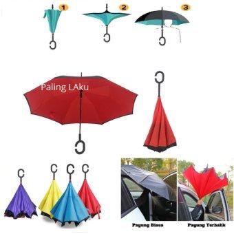 Payung Terbalik / Inverted Umbrella - payung anti basah ketika dibawa ke dalam mobil (multi color)