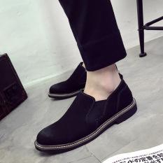 Peas gaya Inggris pria menginjakkan kaki sepatu kulit sepatu (Model  laki-laki + 911 a73d3d2fa7