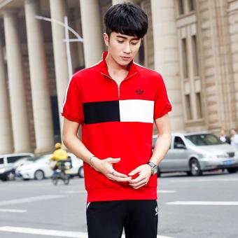 Beli Pecinta Musim Semi Dan Musim Panas Laki-laki Lengan Panjang Kebugaran  Pakaian (Model laki-laki musim panas ayat lengan pendek celana  besar merah )  ... 8498b7462a