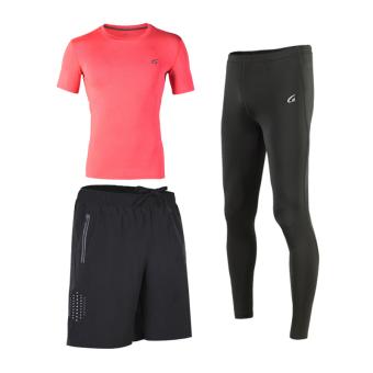 Pelatihan kebugaran gym berjalan cepat kering pakaian I pakaian pakaian basket (Oranye)