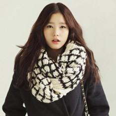 Penjualan Baru ASTAR Fashion Patchwork Acrylic Elastis Panjang Syal Bungkus Selendang Musim Gugur