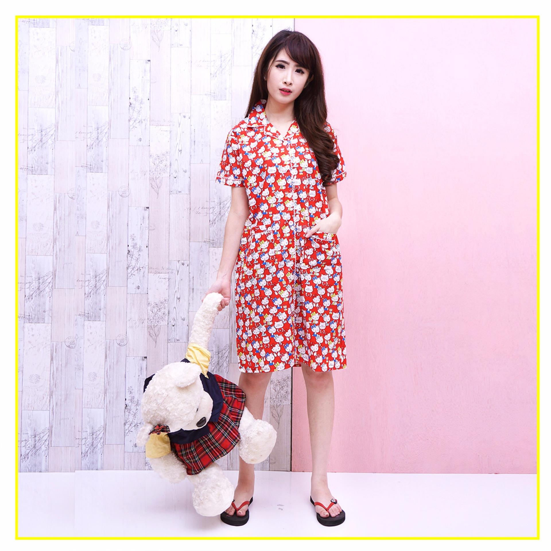 ... Pink Bunny Label Hello Kitty Daster - Merah ...