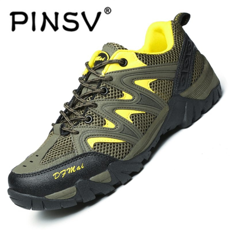 ... PINSV Hiking Shoes Men Spring Hiking Boots Mountain Climbing Shoes  Outdoor Sport Shoes Trekking Sneakers- ... 1bf446bd87