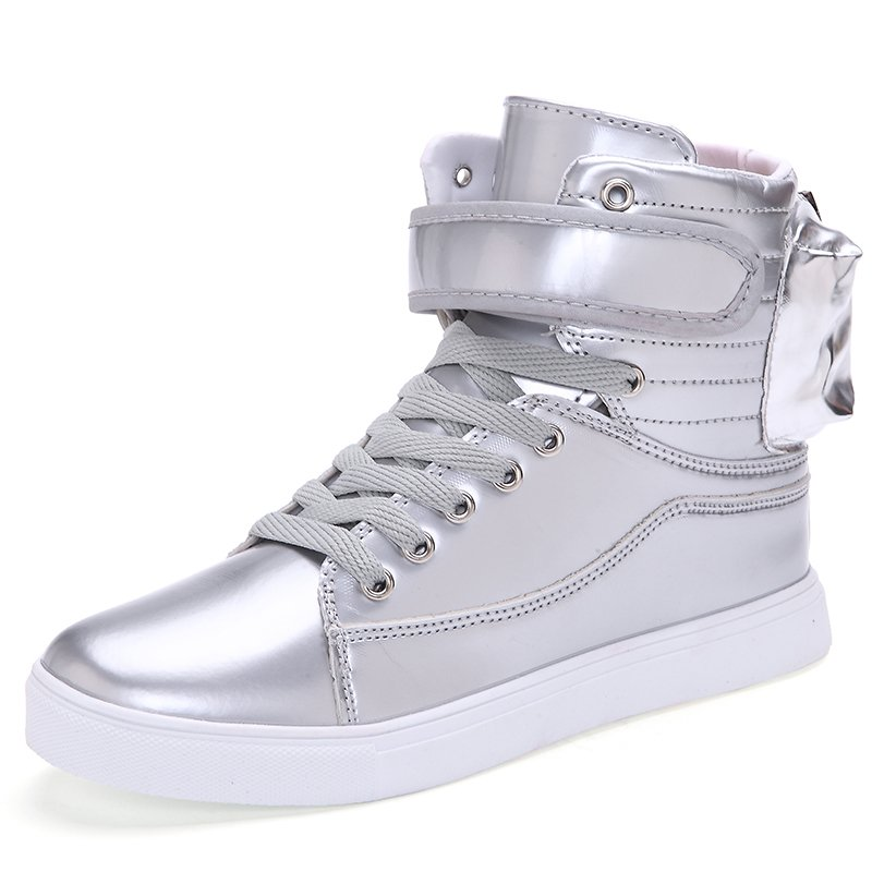 PINSV Men's Fashion Sneakers with High Cut(Silver) - Intl .