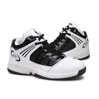 PINSV pria basket Sepatu Sneaker tren a basket Sport Boots - putih - 2