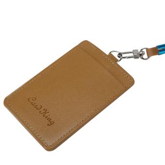 ... Plastic ID Name Card Holder Case Badge Lanyard Neck Strap Necklace Strap Brown intl