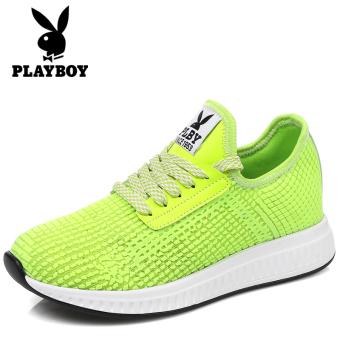 PLAYBOY bernapas jala jala sepatu wanita sepatu sepatu (Hijau neon)