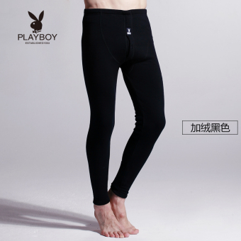 Harga PLAYBOY ditambah beludru pria musim dingin tebal yang hangat celana  (Hitam) de8abb3515