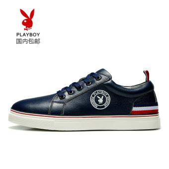 PLAYBOY Gaya Korea dari anak laki-laki kulit datar sepatu sepatu pria (Biru tua ini sepatu 40 yard = sepatu sepatu 40 yard = normal I sepatu 41 yard)
