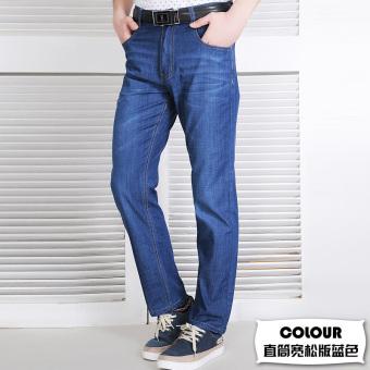 Review of PLAYBOY Kasual Tencel Slim Lurus Laki-laki Celana Kaki Kecil Celana Jeans (