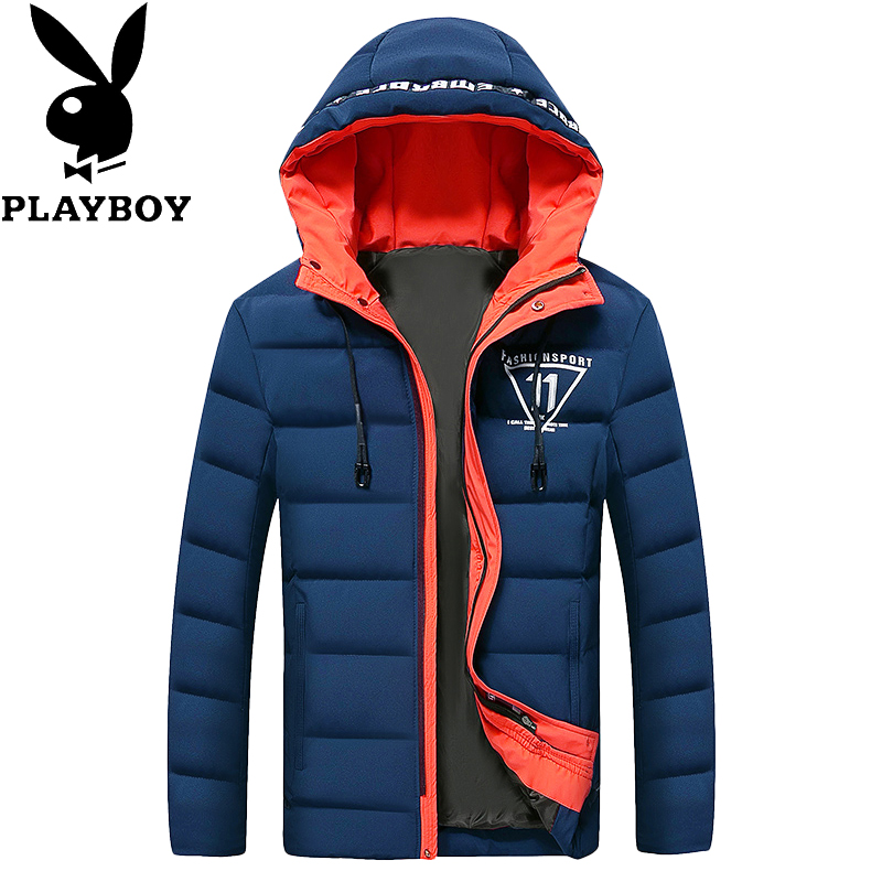 Flash Sale PLAYBOY Korea Fashion Style Laki-laki Baru Pakaian Katun Musim Dingin Baju Katun