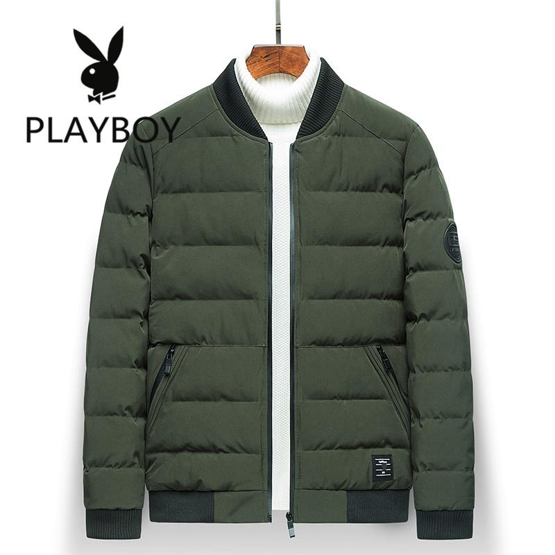 Flash Sale PLAYBOY Korea Fashion Style Laki laki Lebih Tebal Jaket Katun Slim .