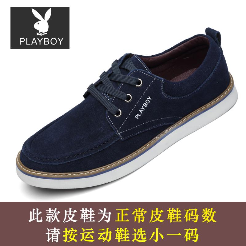 Flash Sale PLAYBOY Korea Fashion Style Laki-laki Sepatu Trendi Sepatu Pria  ( Biru Jahitan 9820b37b01