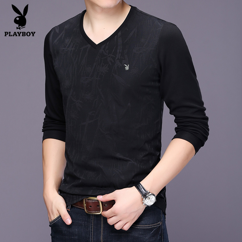 Flash Sale PLAYBOY Pria Lengan Panjang t-shirt sweater (Hitam). Source ·