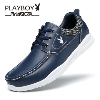 PLAYBOY Korea Fashion Style Musim Gugur Dan Dingin Pasang Sepatu Sepatu Pria (Total CX39718 Biru)