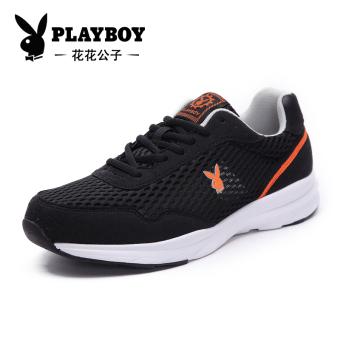 PLAYBOY Korea Fashion Style Pijakan Empuk Berlari Sepatu Sepatu Pria (Hitam)