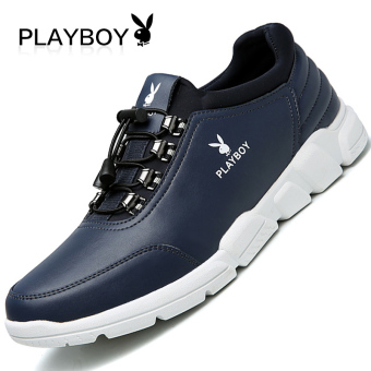 PLAYBOY kulit pria sepatu sepatu pasang sepatu pria (Biru)