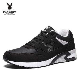 PLAYBOY musim gugur model baru sepatu pasang sepatu sepatu (Hitam)