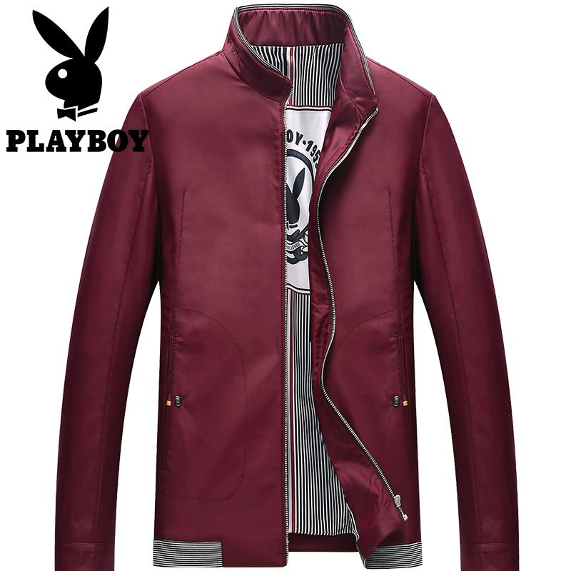 ... lengan pendek kemeja t-shirt ( Anggur. Source · Flash Sale PLAYBOY musim gugur stand-up kerah jaket ukuran besar pria jaket (Merah