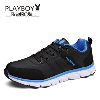 Beli PLAYBOY musim panas pria baru bernapas renda sepatu olahraga (Hitam) Murah
