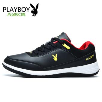 PLAYBOY pariwisata luar ruangan sepatu sepatu hiking sepatu lari (Hitam)