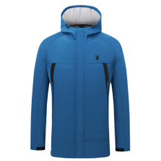 PLAYBOY pria luar ruangan tahan angin berkerudung kasual jaket jaket jaket  (Merak biru) 016b9331ed