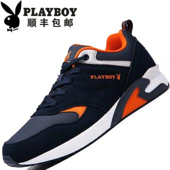 """PLAYBOY Tambah Beludru Pria Yang Hangat Kasual Sepatu Sepatu Katun (Lapisan Tunggal + Biru Tua """"108 Baru"""")"""