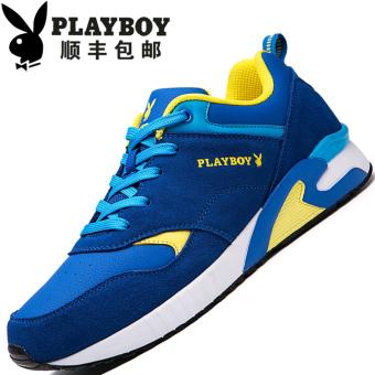 """PLAYBOY Tambah Beludru Pria Yang Hangat Kasual Sepatu Sepatu Katun (Lapisan Tunggal + Safir Biru """"108 Baru"""")"""