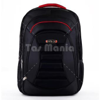 Detail Gambar Polo USA Meteorite Emboss Backpack - Black + Raincover + FREE Tas Selempang Gress Black Knight dan Variasi Modelnya