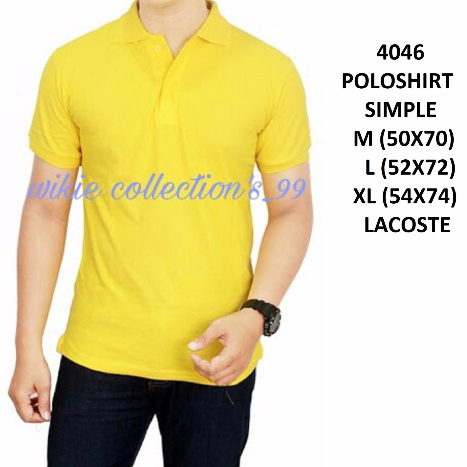Polos Shirt Polos M L XL Lengan Pendek Kaos Kerah Pakaian Berkerah Atasan Pria Wanita Cewe Cowo