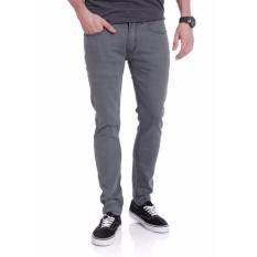 POPS Celana Jeans Denim Slimfit Pria - Abu Muda
