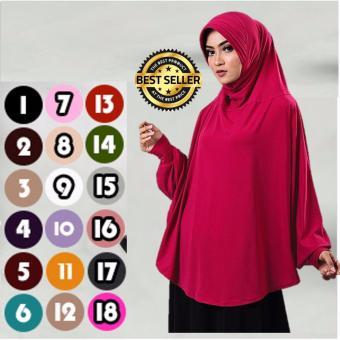 harga Premium Khadijah Bergo Lengan Bahan Jersey (Hijab/Jilbab Syar'i Instant) - Toko Berkah Online Lazada.co.id