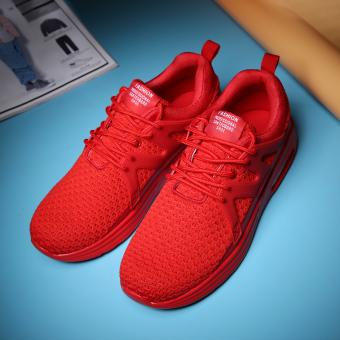 Beli Pria jala bernapas olahraga kasual sepatu pria sepatu (Merah)  Terpercaya 988c5091db