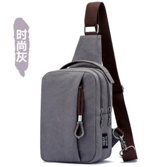 Pria Korea Messenger bag pack dada baru (Shishang model abu-abu)