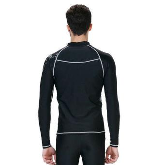 ... Pria pakaian renang berenang surfing berselancar angin puncakRashguard t-shirt lengan baju panjang pakaian untuk ...