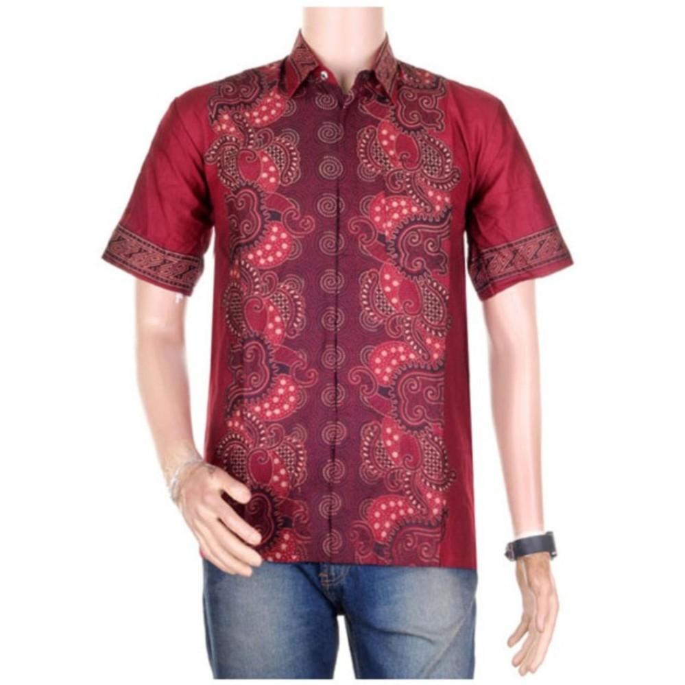 Promo Baju Batik Pria Sabrina Kekinian Lengan Pendek Kemeja Batik Pria  Jogja Kekinian 9bdd1bb725