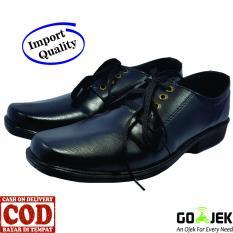 PROMO FANTOPEL Sepatu Kerja Kantoran Resmi - Fantofel Hitam | Awet & Kuat