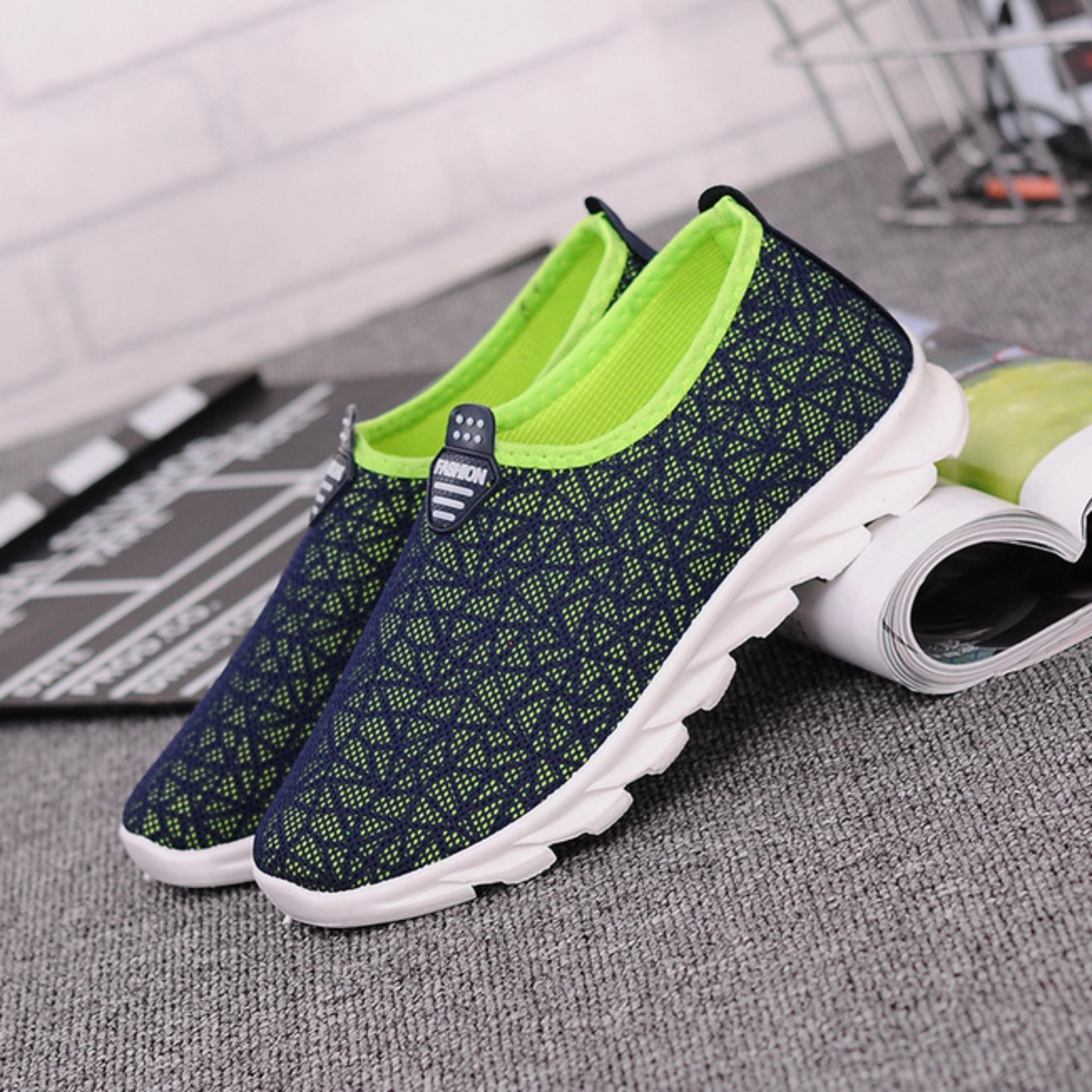 Promo Sepatu Pria Wanita - Korea style - Biru Tua